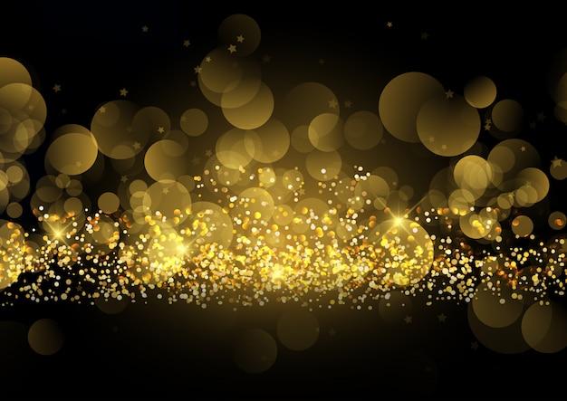 輝く金色の輝きの背景