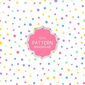 かわいい円のパターンの背景