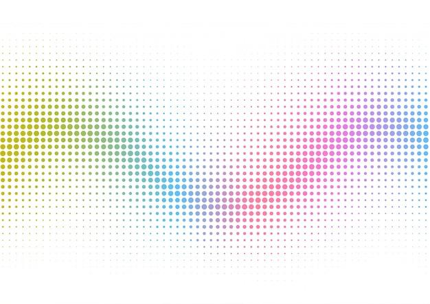 虹のハーフトーンドットの背景