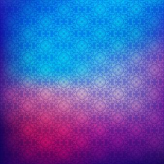 Цветочный узор на фоне размытия градиента