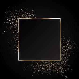 エレガントな金色の輝きの背景