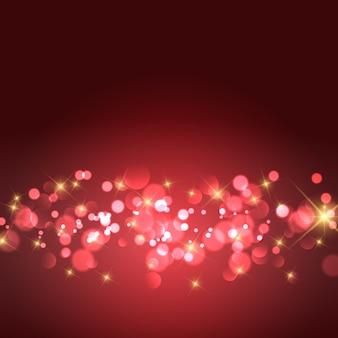 Золотые звезды и фон боке огни