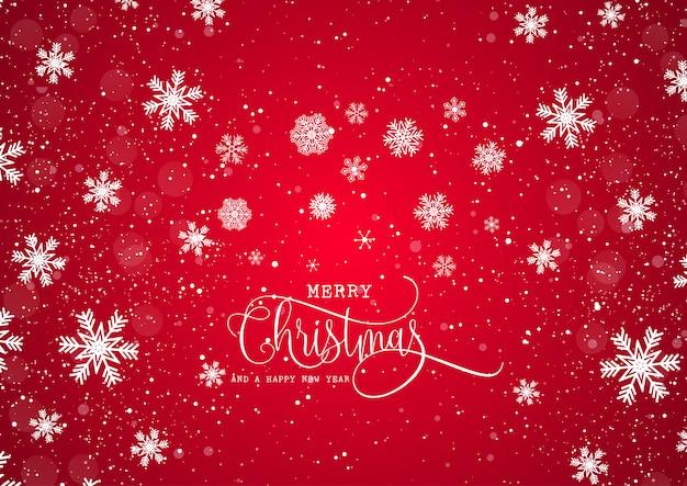 クリスマスの背景と雪片