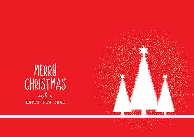 木と装飾的なテキストのクリスマスの背景