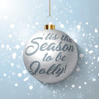 クリスマスバブルの背景