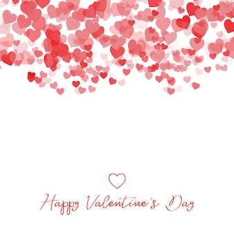 装飾的なバレンタインデーのハートの背景