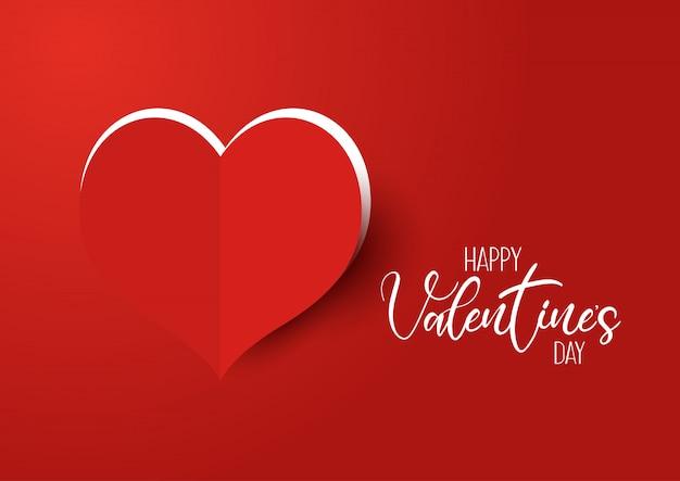 День святого валентина фон с вырезанным сердцем