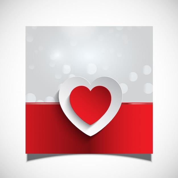 バレンタインカードの背景