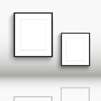 床の反射で空白の図枠