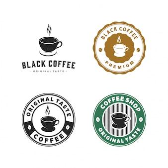 Винтаж кофе логотип