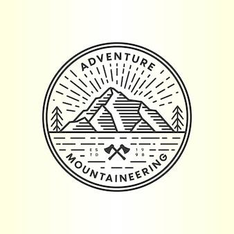 Старинный горный логотип