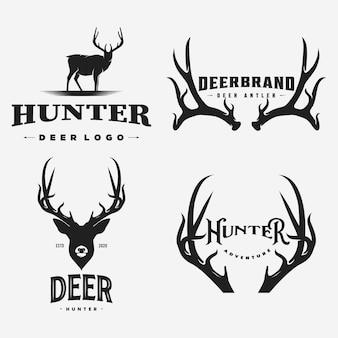 ビンテージ鹿のロゴとアイコン