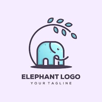 Шаблон логотипа слона