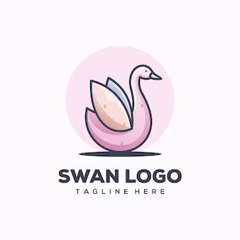 白鳥のロゴのテンプレート