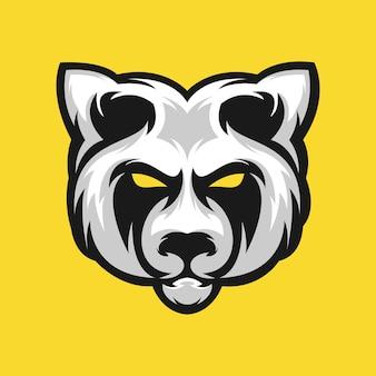 Панда дизайн логотипа векторная иллюстрация