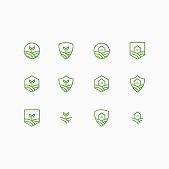 農場と家のロゴコレクション