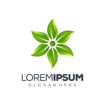 緑の葉のロゴデザイン