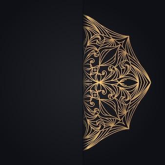 Золотой винтаж на черном фоне