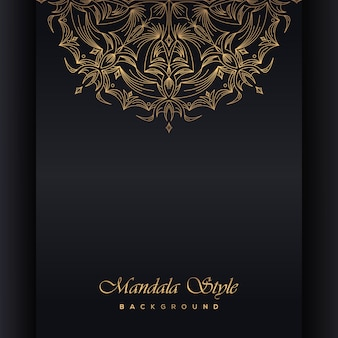 マンダラとゴールドの背景