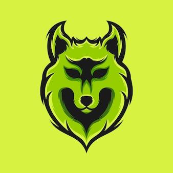 オオカミのロゴデザイン