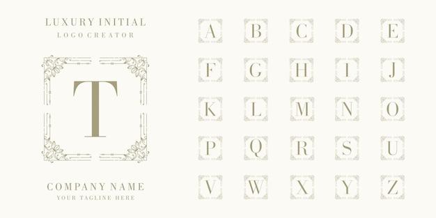 Премиум люкс начальный дизайн логотипа