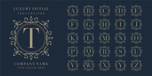Первоначальный дизайн логотипа с цветочной рамкой