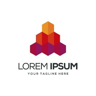 Шаблон логотипа коробки