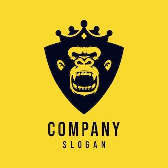 Король обезьян векторный дизайн логотипа