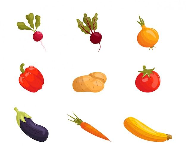 漫画野菜のセット