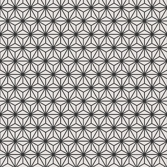 黒と白の幾何学的なシームレスパターン背景花
