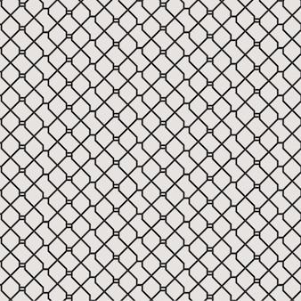 Абстрактные геометрические линии бесшовные модели фон с черным и белым