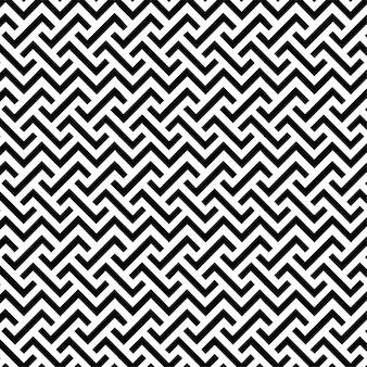 パターンデザインの幾何学的なシームレスライン背景黒と白