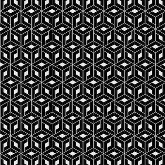 シームレスな未来的な三角形の錯覚パターン