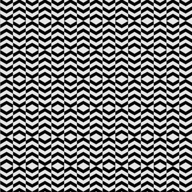 モダンな錯覚パターンブラックシームレス