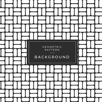 多様な幾何学的な白黒パターン。黒と白
