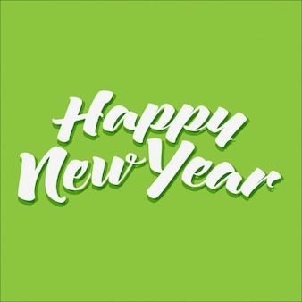 緑の背景に、幸せな新年
