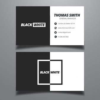 シンプルな黒と白のビジネスカードテンプレート