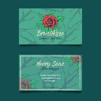 Шаблон роза визитная карточка