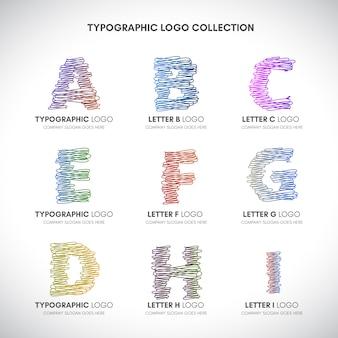 手紙のロゴコレクション