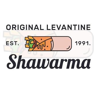 Шаурма дизайн логотипа