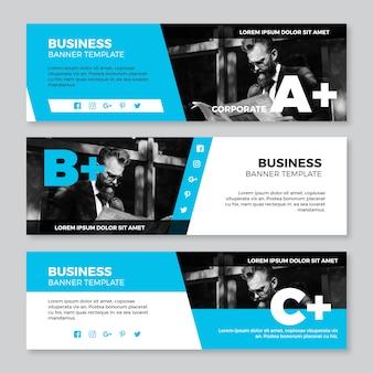 Коллекция бизнес-баннеров