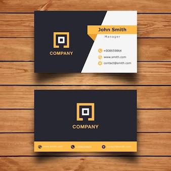 現代の企業のビジネスカードのデザイン
