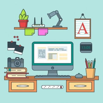グラフィックデザイナーのワークスペース