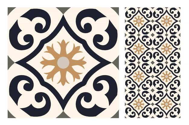 タイルポルトガルパターンアンティークシームレスデザイン