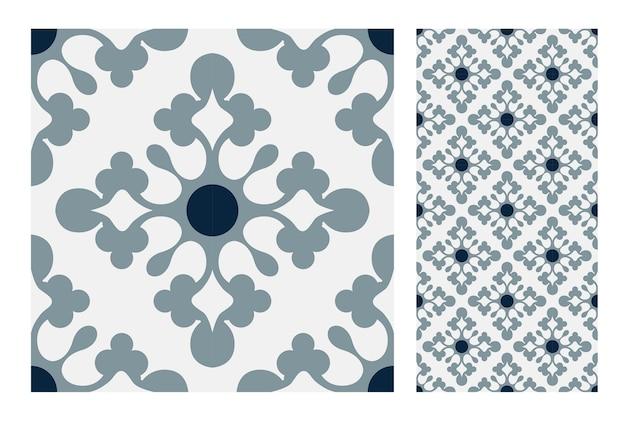 ビンテージタイルアンティークシームレスパターン