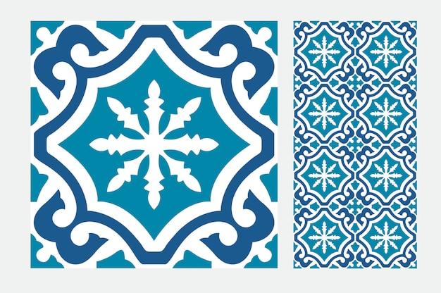 ビンテージタイルパターン