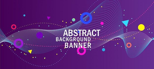 抽象的な創造的な紫色の背景