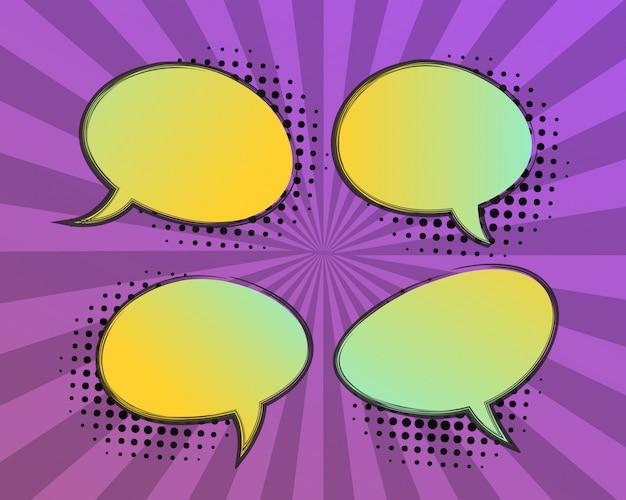 Пузыри речи в стиле комиксов