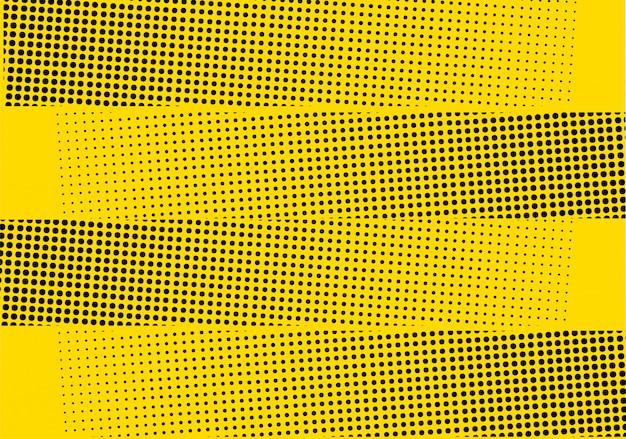 黄色のモダンなハーフトーンの背景