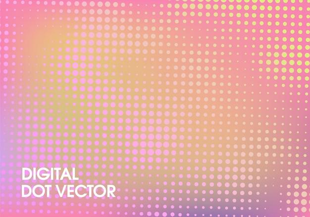 Современный цифровой дизайн вектор точка